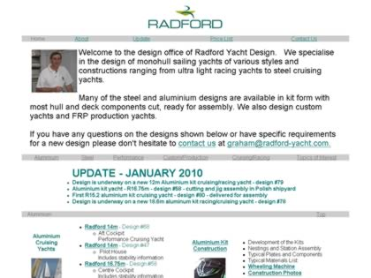 Cached version of Graham Radford Yacht Design