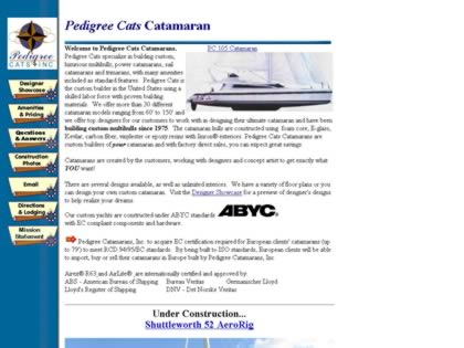 Cached version of Pedigree Catamarans, Inc.