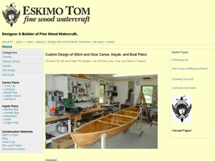Cached version of Eskimo Tom's Fine Wood Watercraft