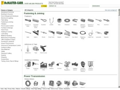 Cached version of McMaster-Carr Supply Company