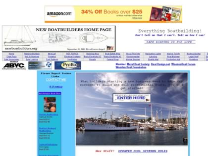 Cached version of New Boatbuilders Home Page