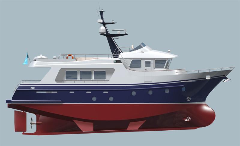 trawler yacht bering - Boat Design Net Gallery