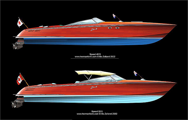 Wooden Power Boat Design
