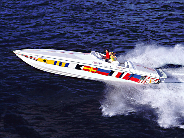 Cigarette Cafe Racer Boat