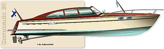 Hermanform retro boat design