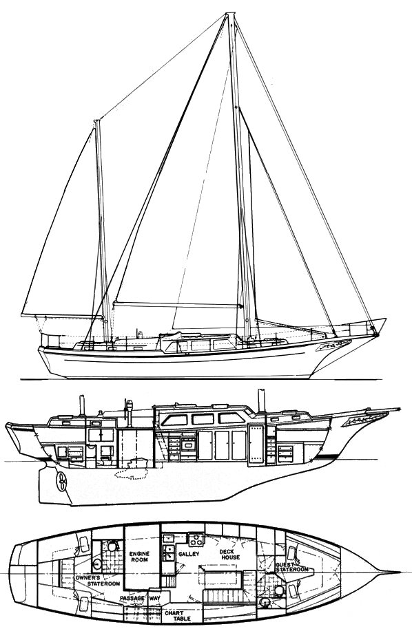 1970s Alden Design No 1024 Hodgdon Bros Dolphin 47 GRP Ketch drawing.jpg
