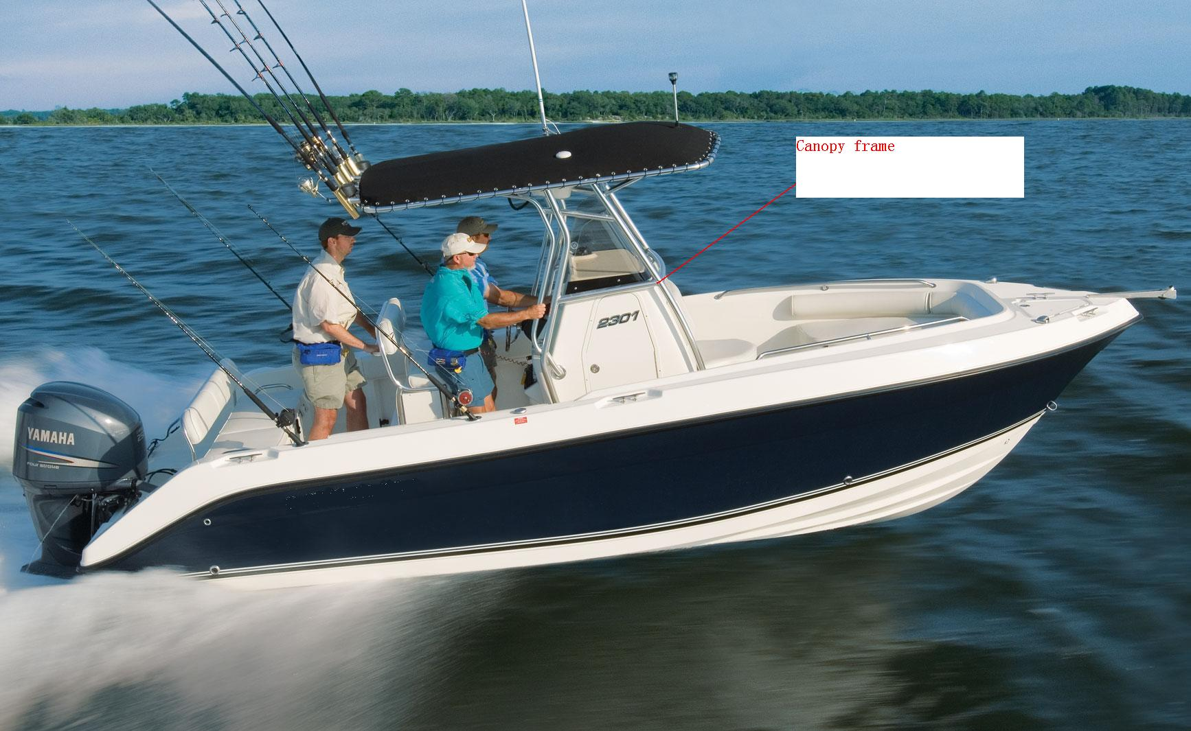 2301CC-running.jpg & Canopy frame material aluminium or stainless steel ? | Boat ...