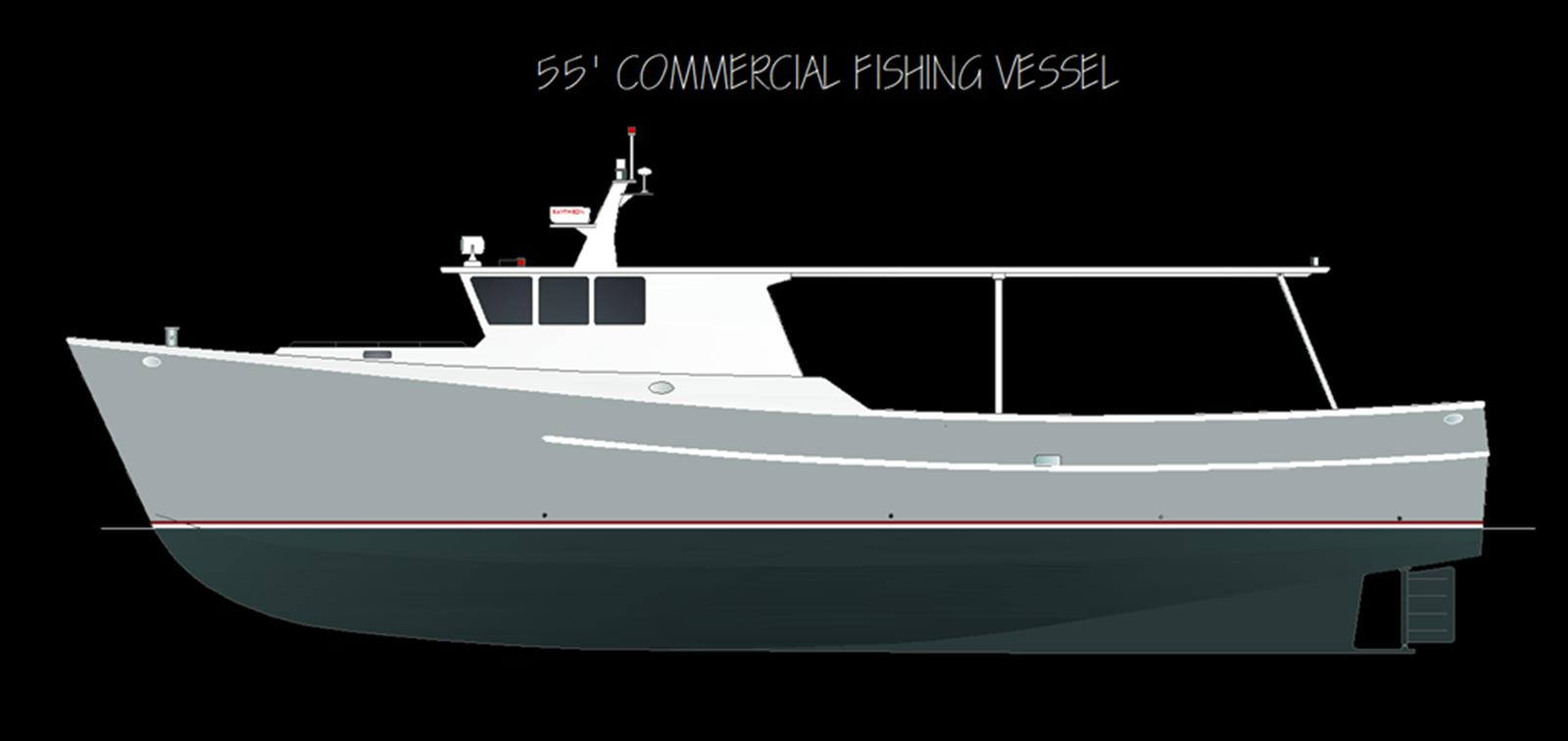 55' Commercial Fishing Vessel Design | Boat Design Net
