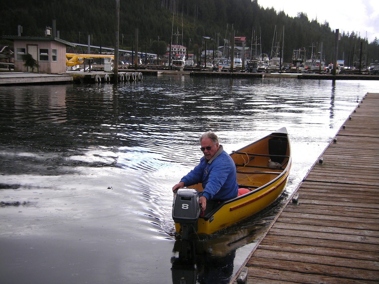 Adapting a double ended canoe to an outboard | Boat Design Net