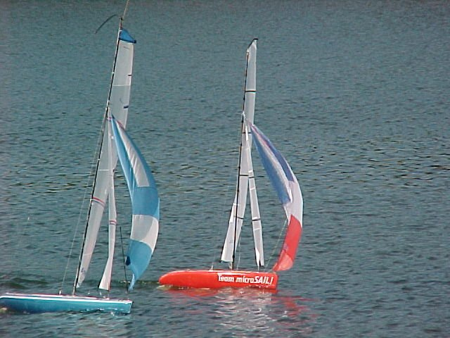 America One and Spinnaker 50-worlds first production RC spinnaker boats.jpg
