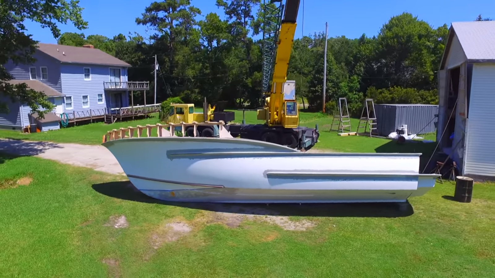 B and B Yacht Designs Rough Point Boatworks Rough Point 37 hull turning pod view right side up.jpg
