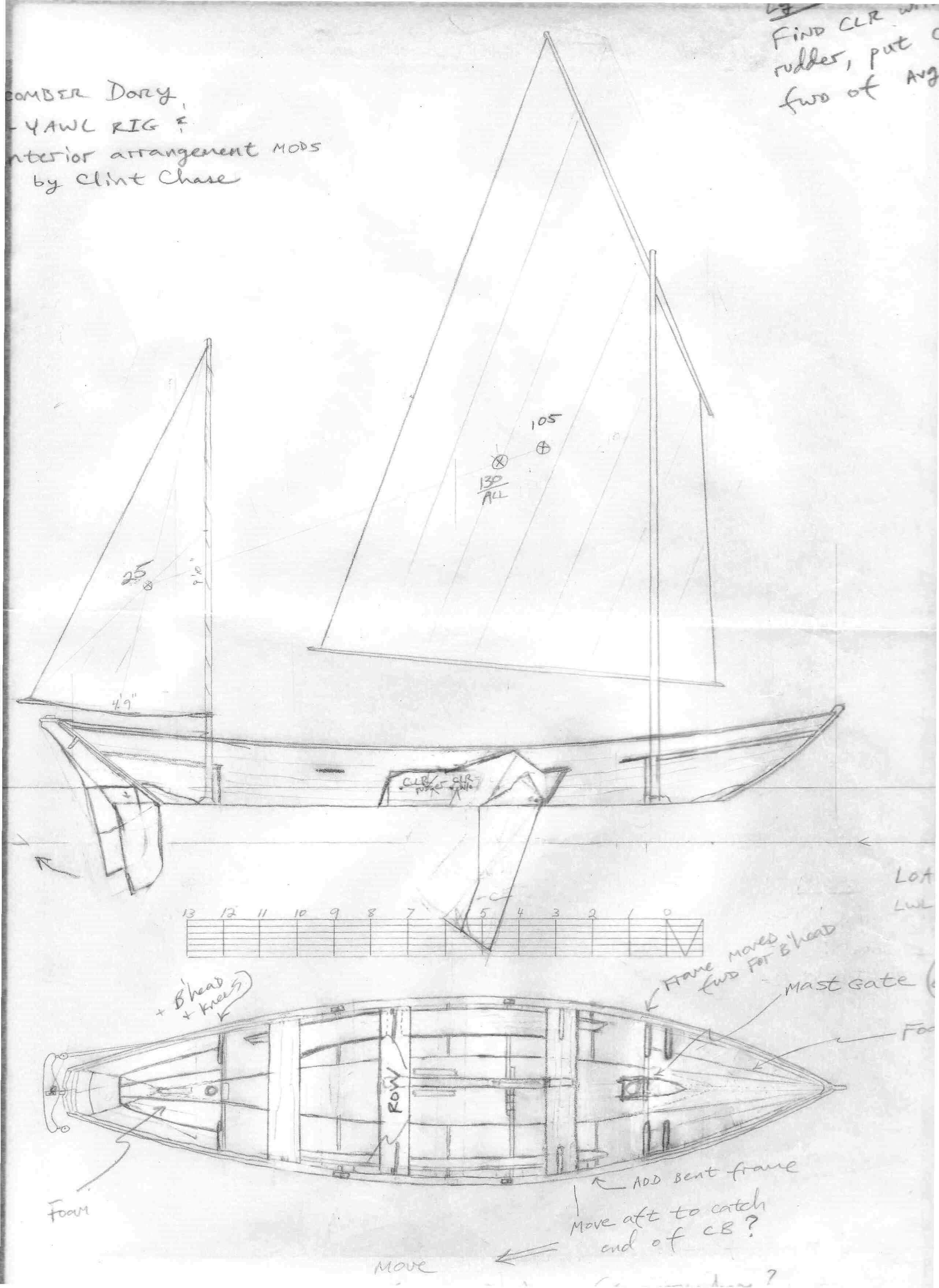 New Dory Rig: Lug-Yawl | Boat Design Net