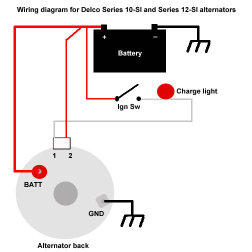Delcowiring: How To Wire An Alternator Diagram At Shintaries.co
