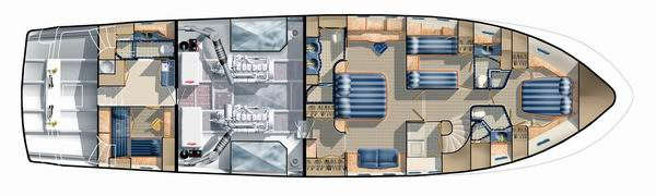 New Steel 70 Interior Yacht Proposed Layout