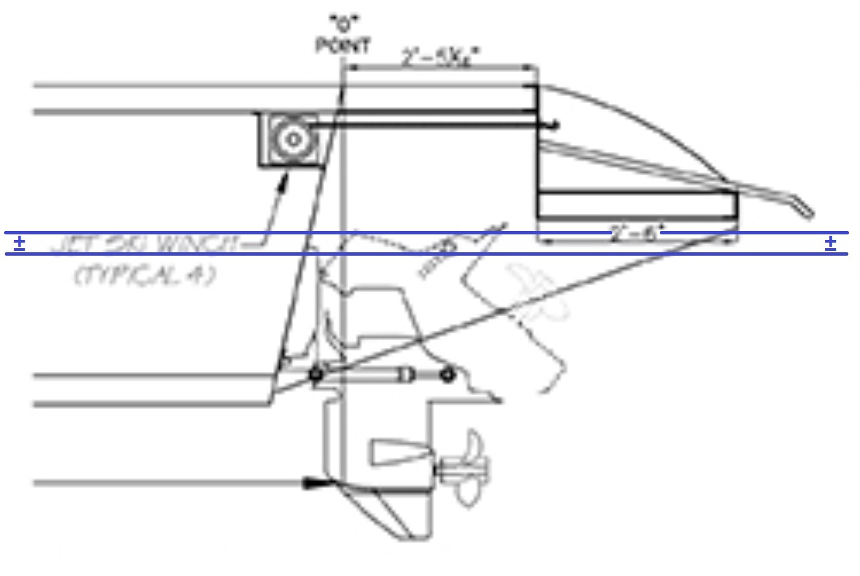 Destination Yachts V Series full hull outdrive leg and added estimated waterline.jpg