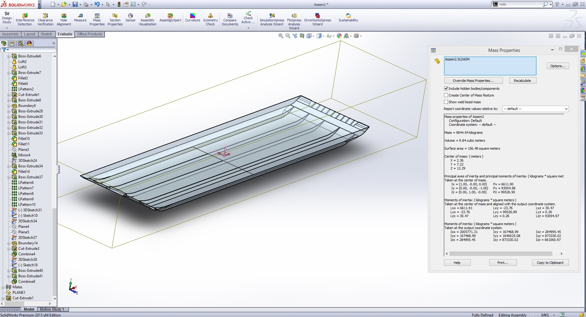 Calculating displacement with solidworks boat design net displacemet calculation 1g ccuart Image collections
