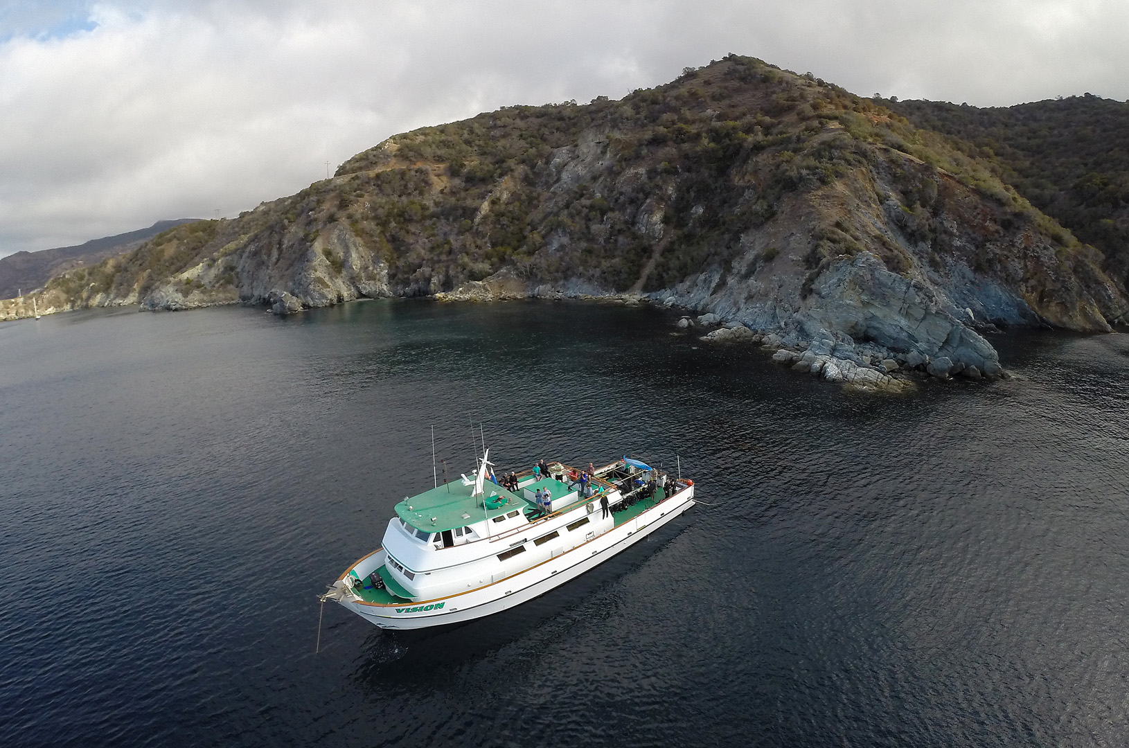 dive trip boat aerial MV Vision sister ship of MV Conception of 2019 deadly fire in California.jpg