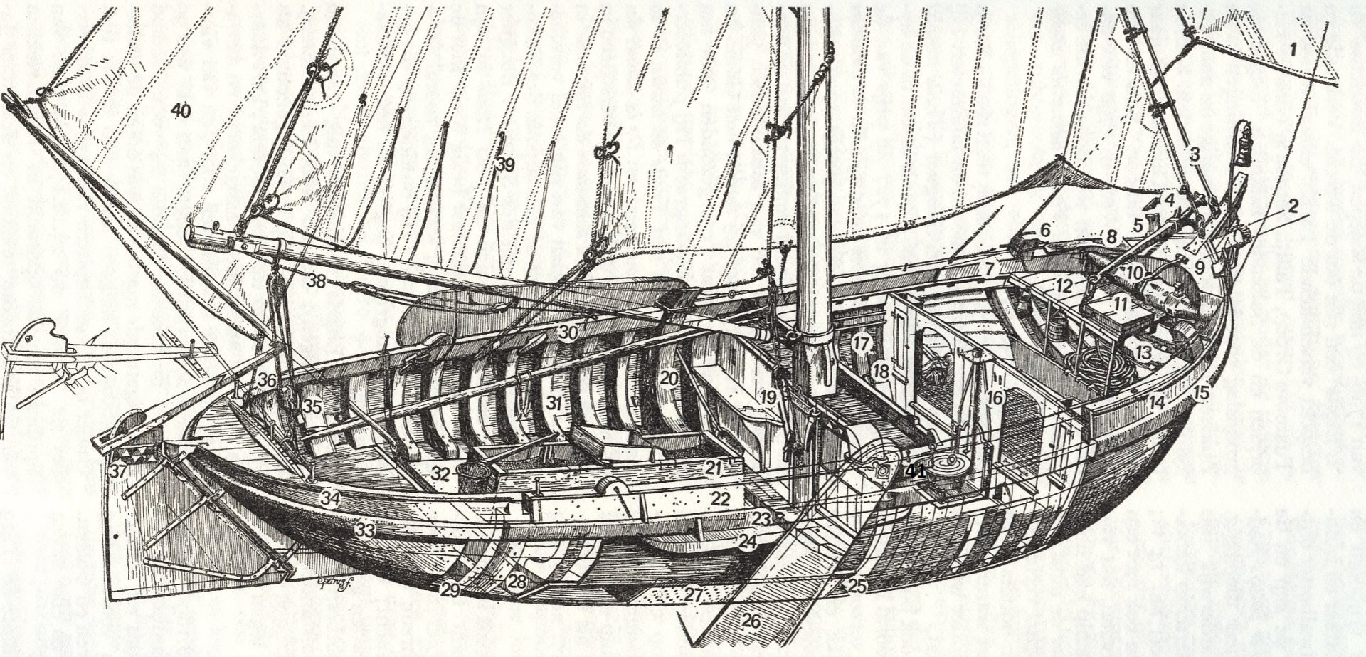 Dutch Botter drawing with part numbers.jpg