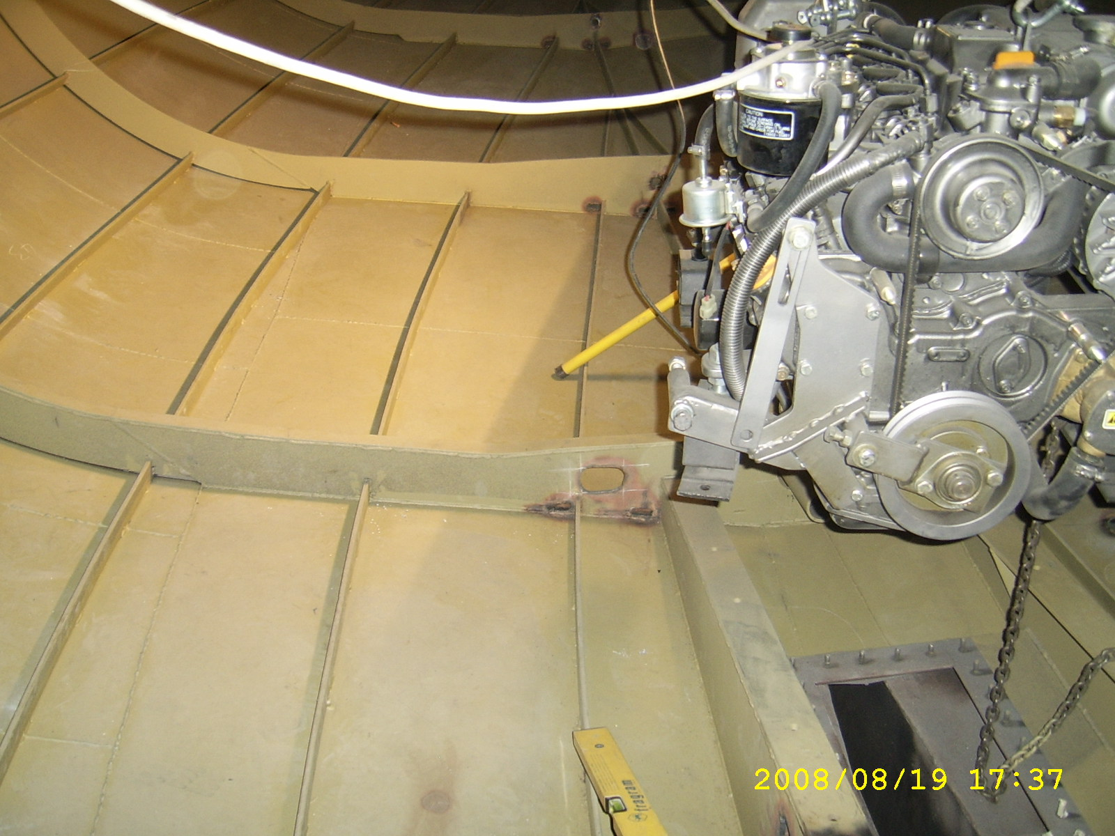 Welding the skin to the frames demystified | Boat Design Net
