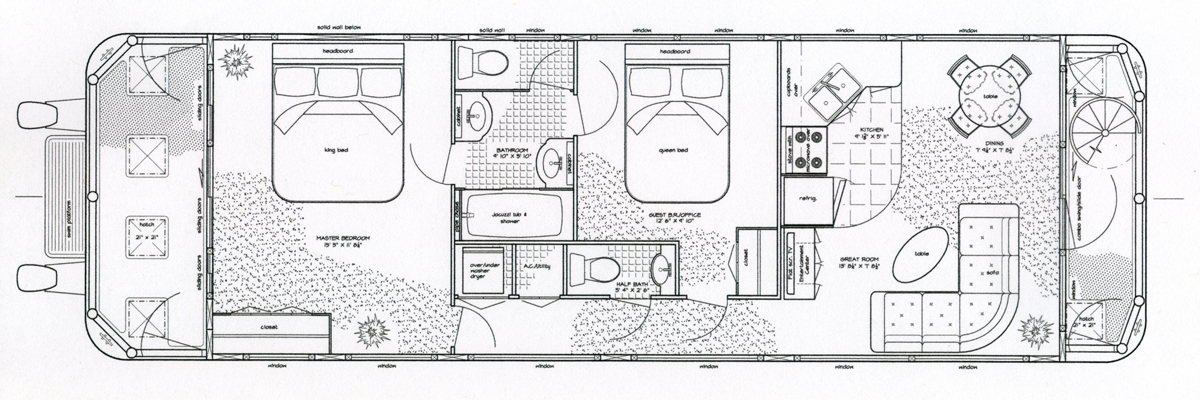 Excellent house boat plans pictures best inspiration for Boat floor plans