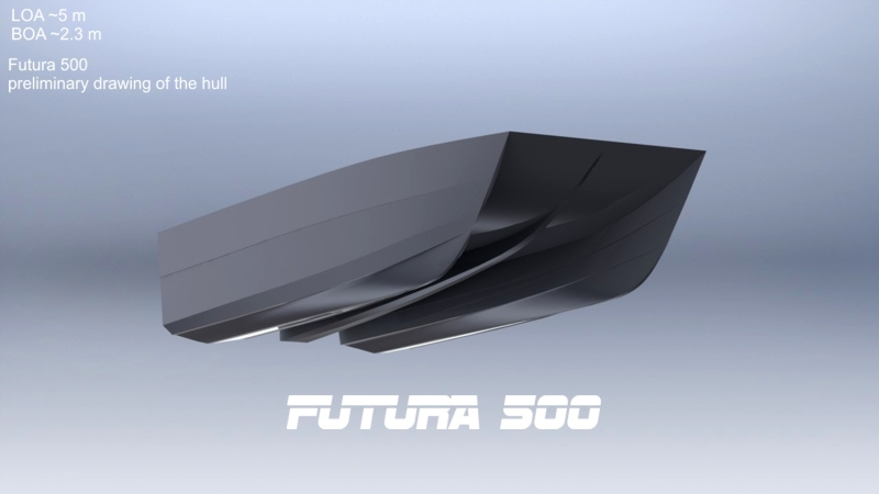New small power catamaran designproduction boat design net futura 500g sciox Image collections