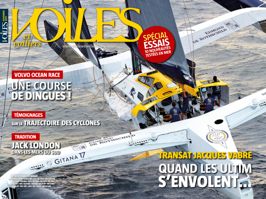Gitana 17 on the cover of Voiles et Voiliers.png