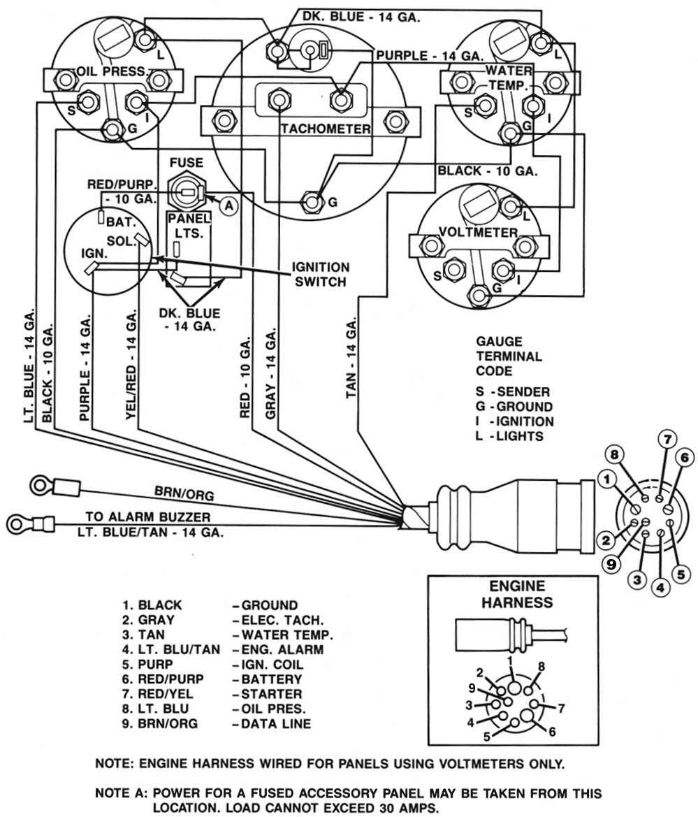 gauge wiring diagram for mercruiser 383 new install boat design net Mercruiser 3.0 Firing Order Diagram at couponss.co