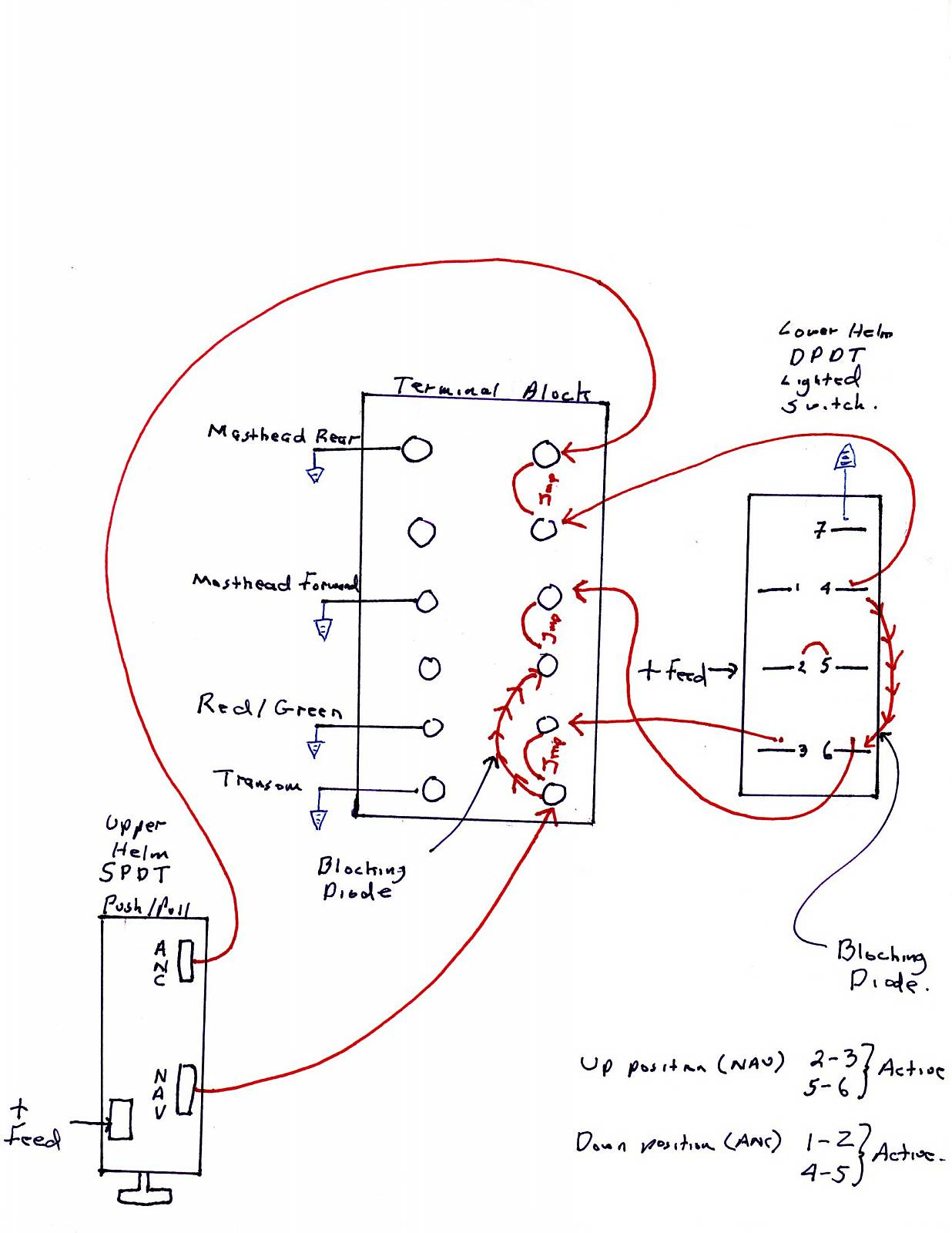 navigation light wiring for dual stations boat design net Basic Electrical Wiring Diagrams at aneh.co