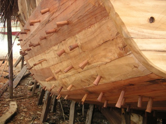 Wooden boat construction- Malaysia   Boat Design Net