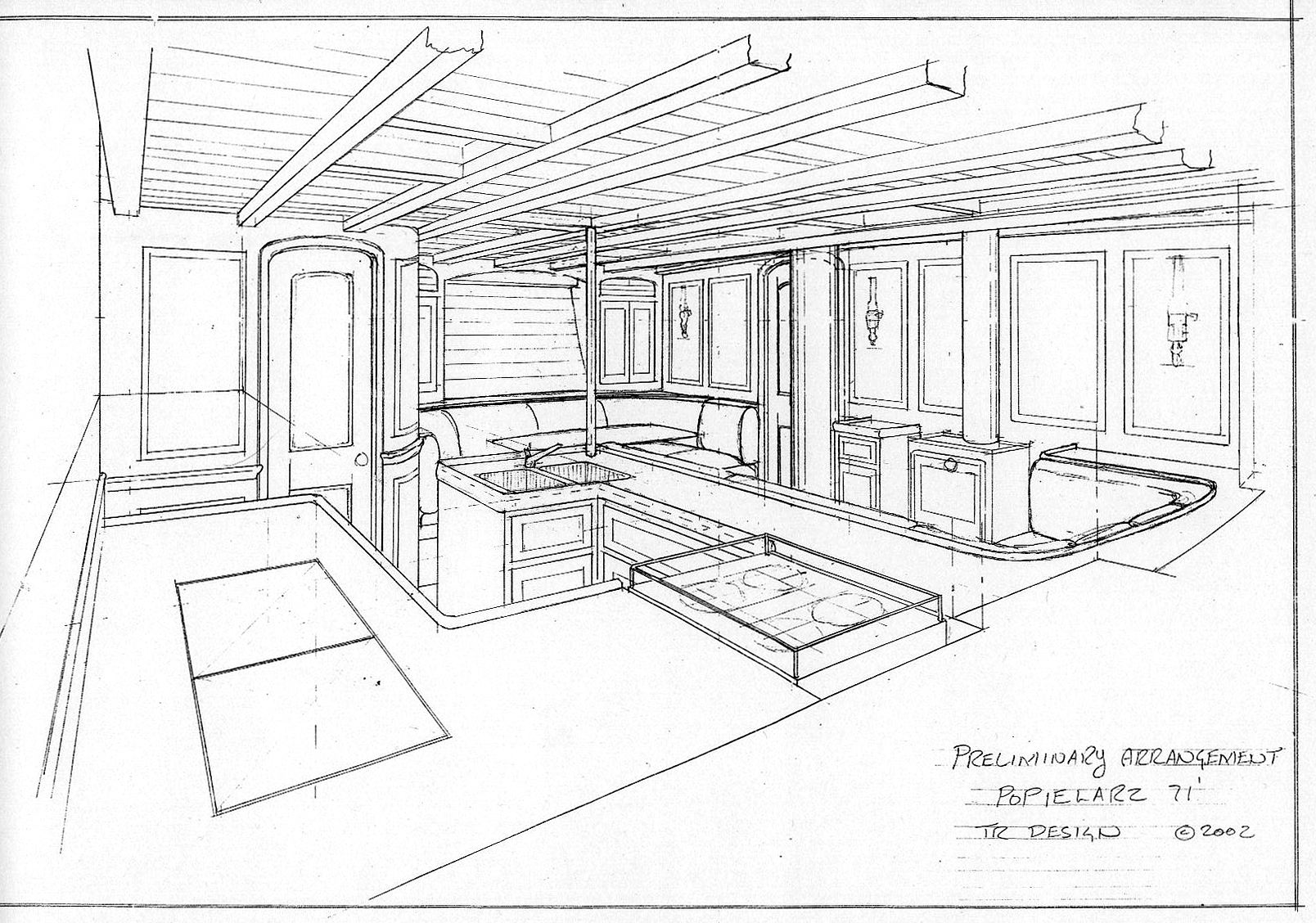 Drawing Yacht Interiors