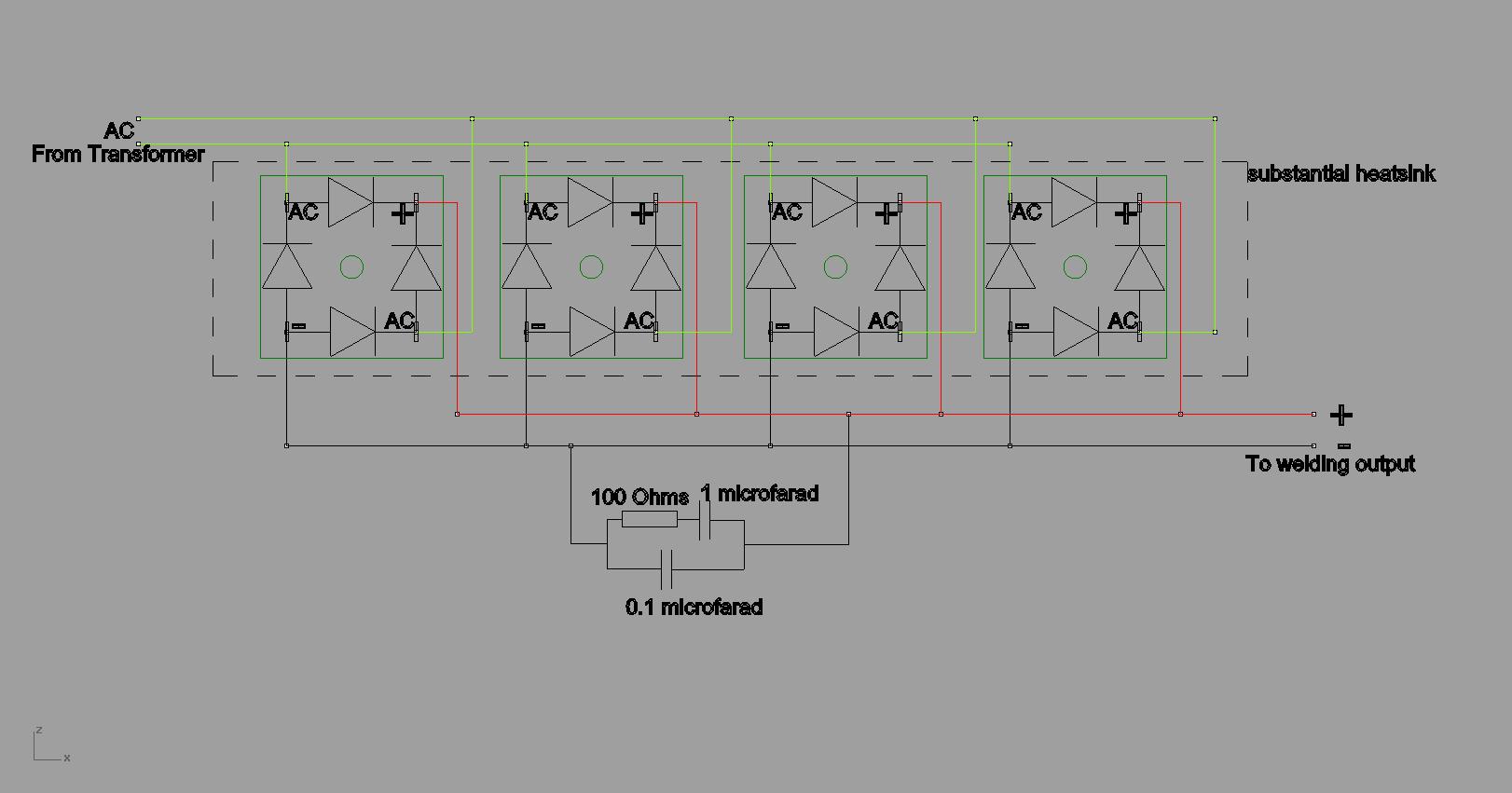 replacment rectifier for mig welder boat design net RL Circuit Diagram