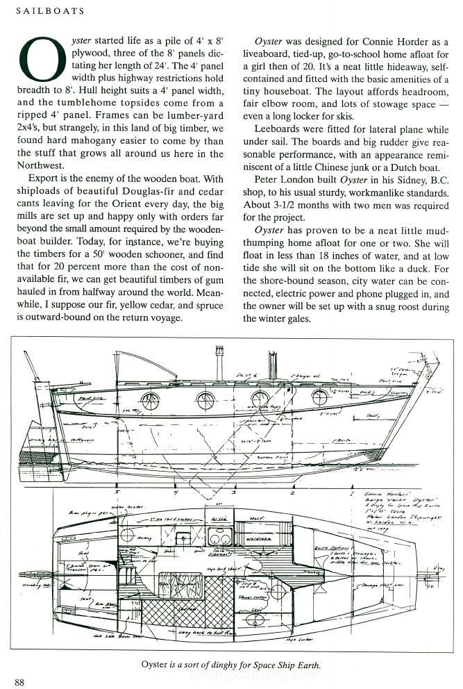 Sailing Shanty Boat William Garden Design 617 B OYSTER 24.5 ft scow barge yacht mystic seaport 2.jpg