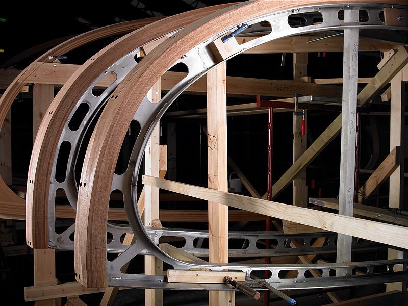 Bending wood over steel frames..?   Boat Design Net