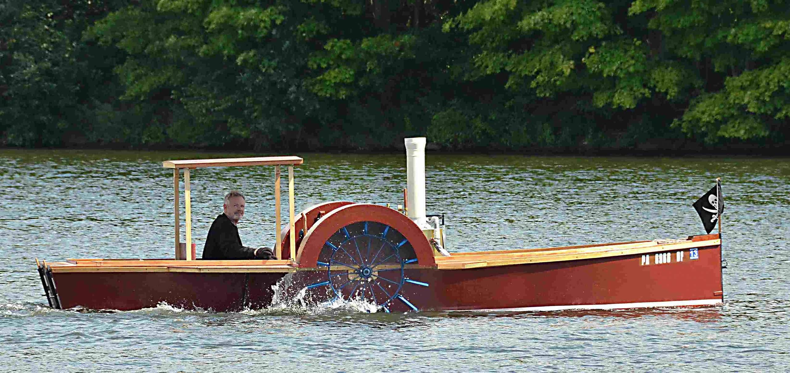 Steam Paddlewheel Boat