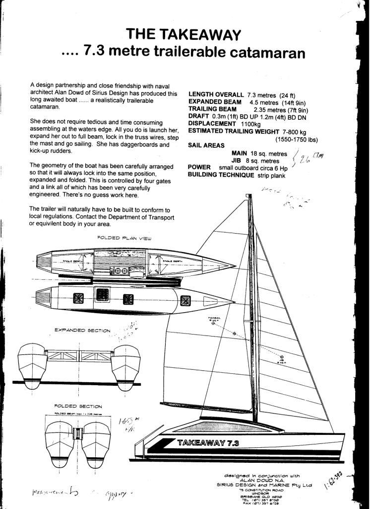 folding catamaran systems | Boat Design Net
