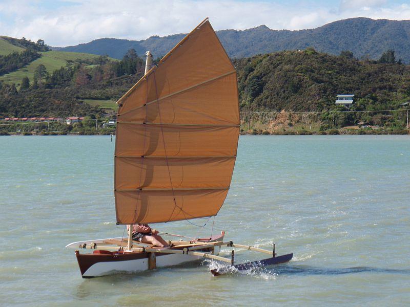 Junk Rigged Trimaran | Boat Design Net