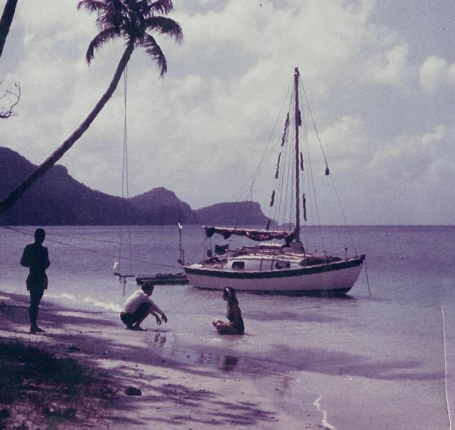 Westerly 22 'Young Tiger' at Bequia - mid 60's.jpg
