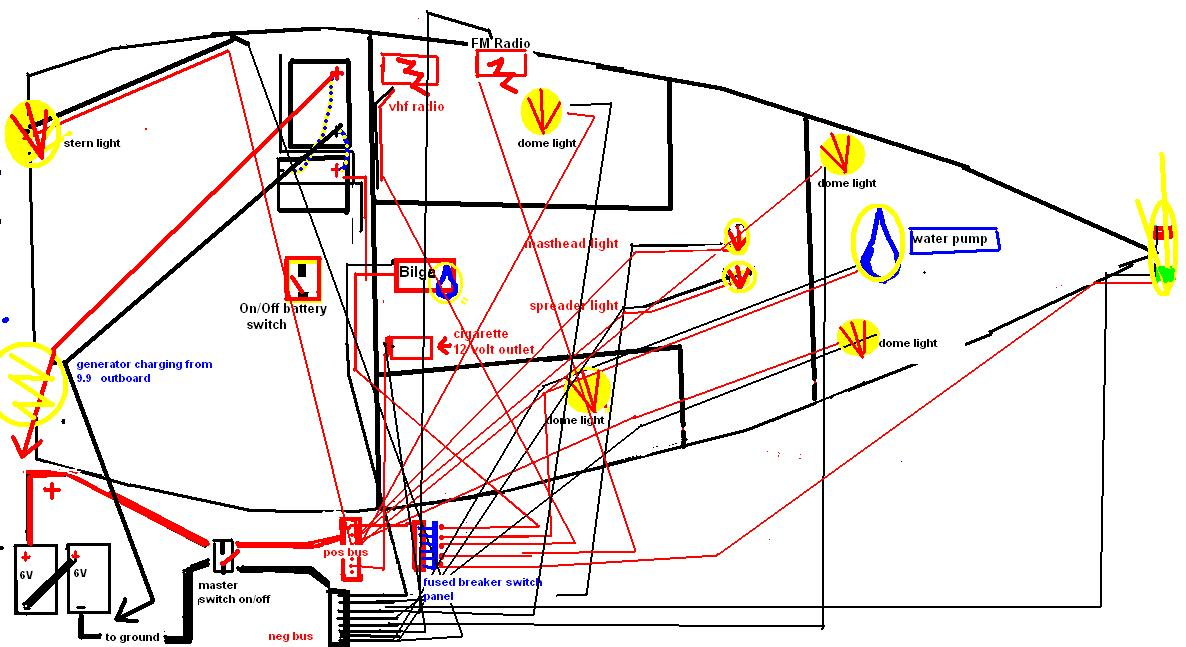 Thoughts on a 24-foot sailboat electrical diagram | Boat Design Net