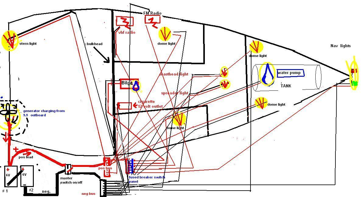 thoughts on a 24 foot sailboat electrical diagram boat design net rh boatdesign net led boat light wiring diagram boat lights wiring diagram