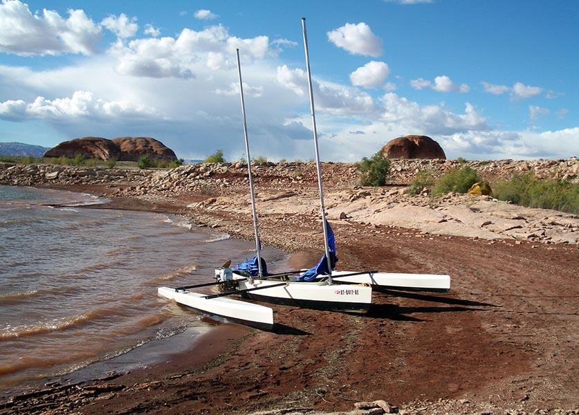 Turning Grumman Canoe into waka ama | Boat Design Net
