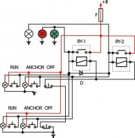 nav light wiring diagram navigation light wiring for dual stations | boat design net