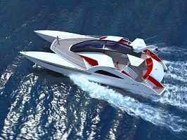 Catamaran power yacht