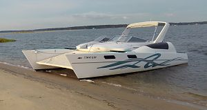 27' Stiletto Catamaran Two Parts Make One Power Cat, Transformable back to Sailing Cat.