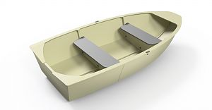 HDPE collapsible boat