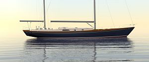 78' jketch by Robb Ladd yacht Design