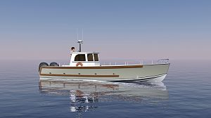 """Ghillie"" - an island tender, estate launch, general workboat/cargo-carrier."