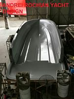 new  sport motor  boat  design   hull mold  advancing to complete