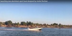 Best day  the launching and the speed  tests  aluminum sport boat designed Andrei Rochian