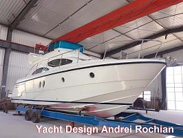 X43  Flybridge Motor Yacht  construction prototype  completed  in Manchuria