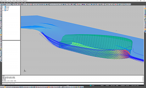 High speed boat CFD results in ShapeMaker